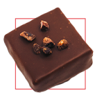 Praline chocolat noir - Café